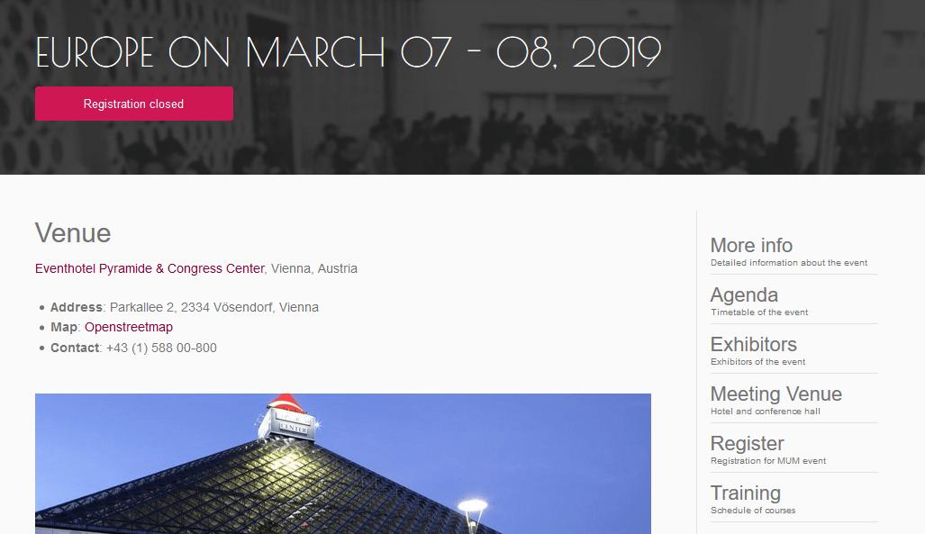 MUM in EUROPE, MARCH 2019でいくつか新製品が発表になっていた